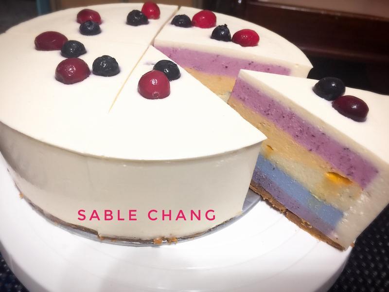 """🌈彩虹乳酪蛋糕""""天然無色素添加"""""""