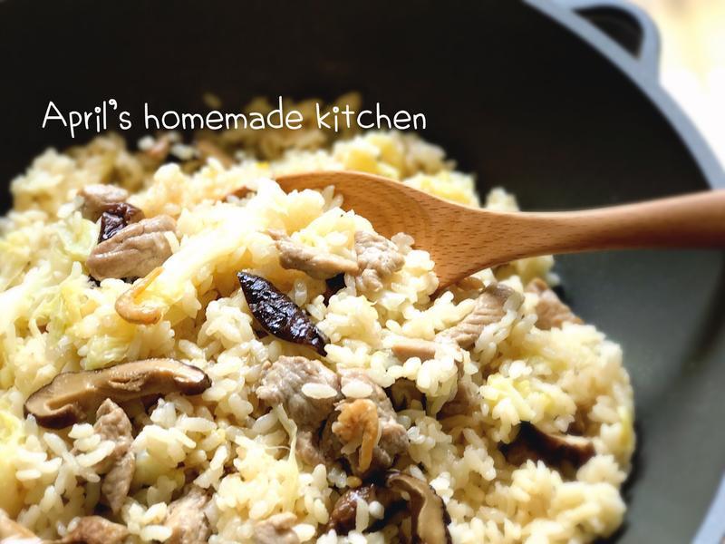 煮一鍋濃濃古早味高麗菜飯