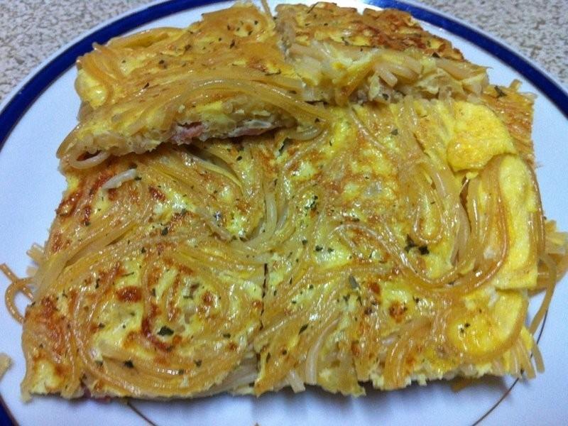 培根義大利麵蛋餅(2人份)