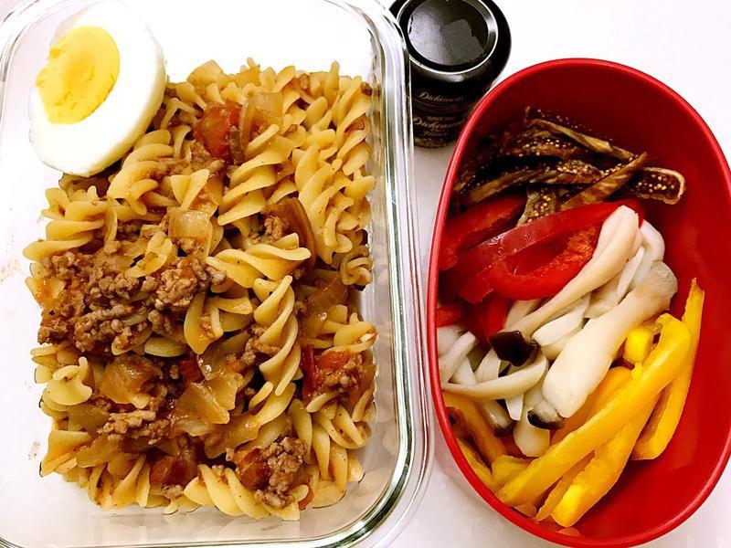 お弁当-170509-義大利肉醬麵