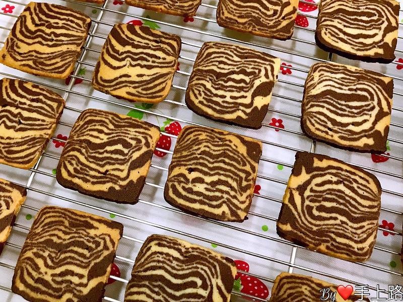 斑馬條紋手工餅乾