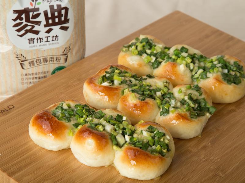 蔥花麵包  【麥典實作工坊麵包專用粉】