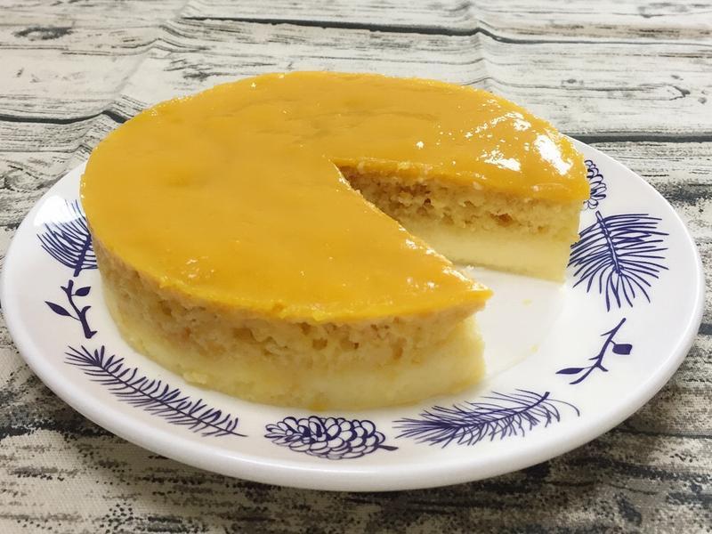 芒果凍布丁蛋糕