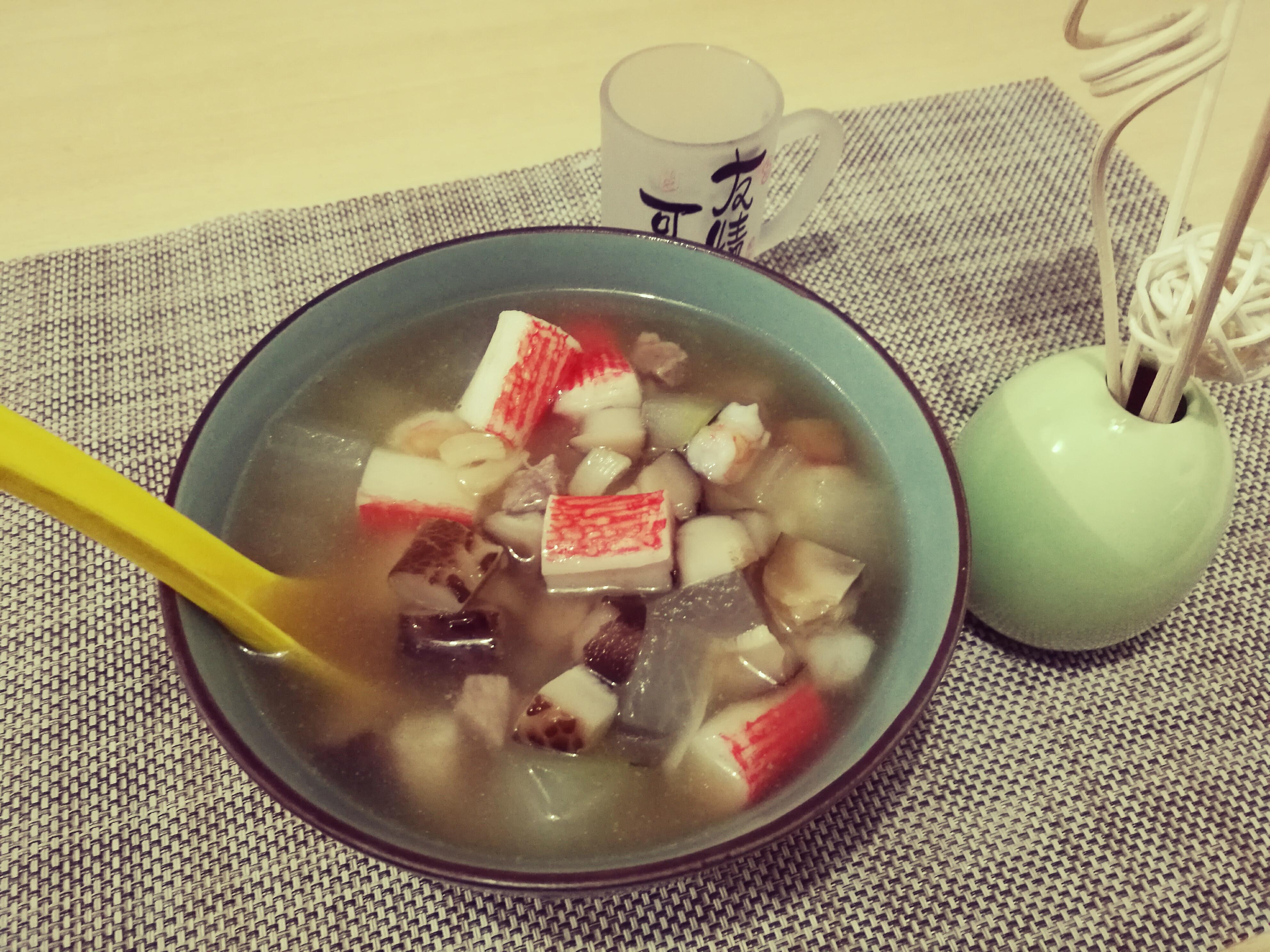 冬瓜粒湯泡飯 ~ 清熱消暑食品!