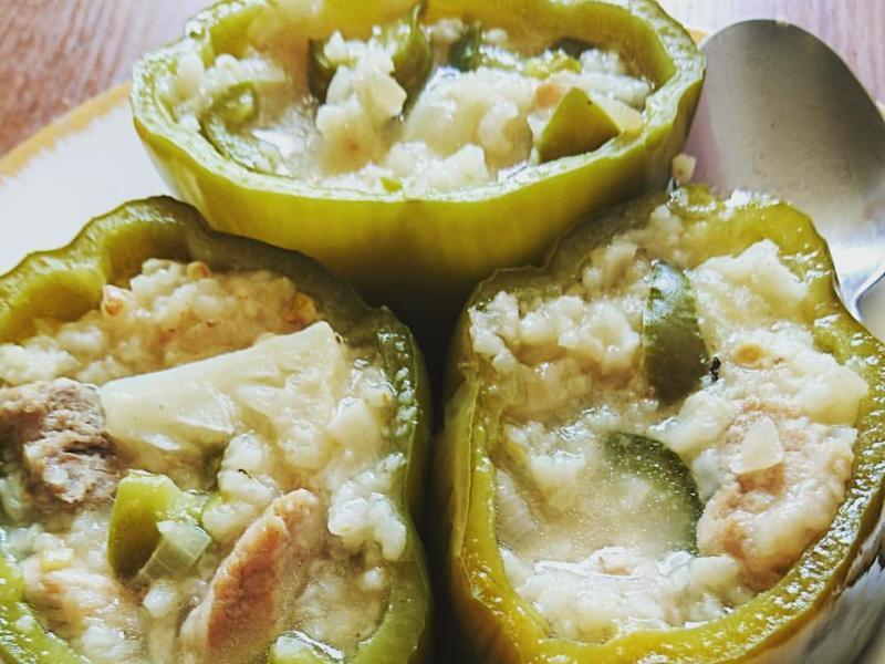 醡漿草青椒鑲飯