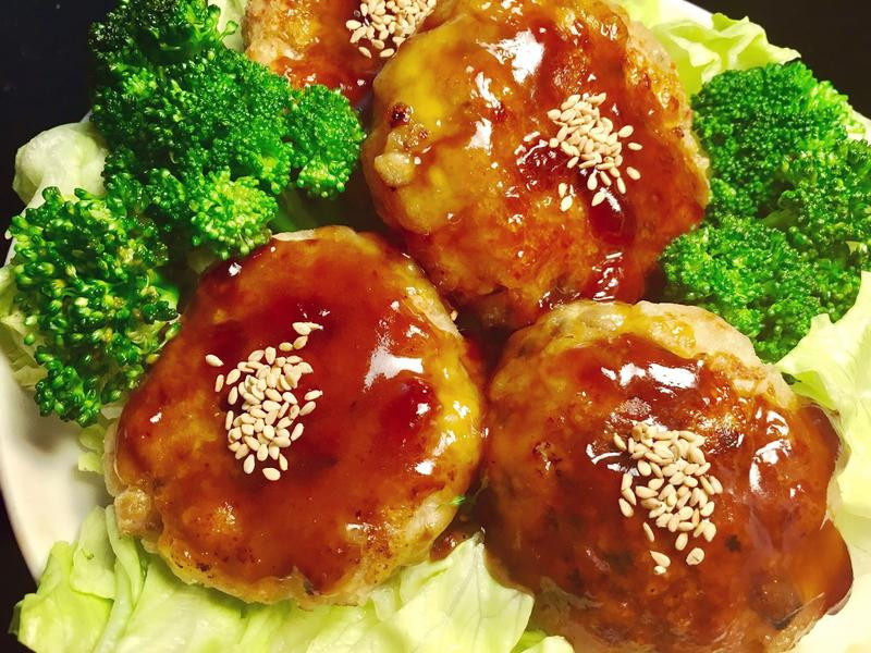 日式照燒豆腐漢堡排