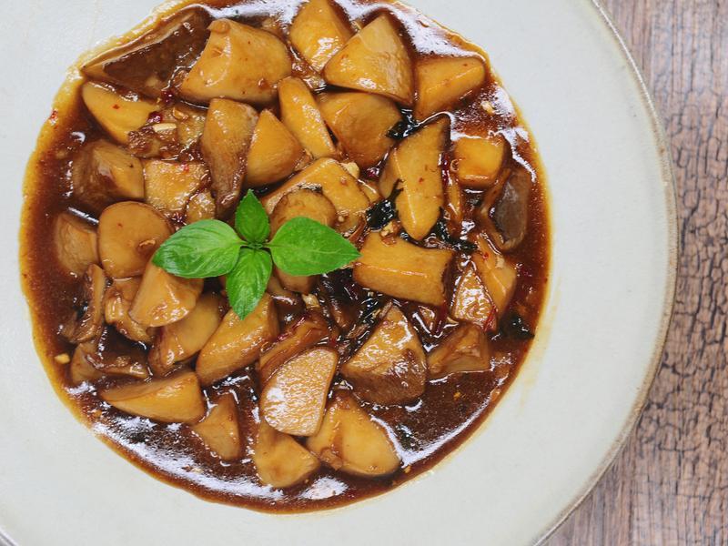 [一鍋到底]蔬食三杯杏鮑菇