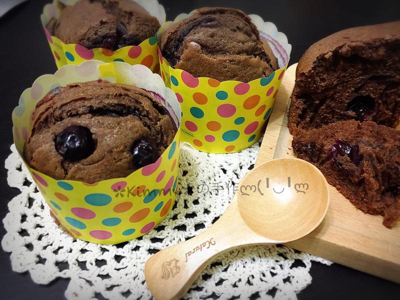 巧克力藍莓杯子蛋糕