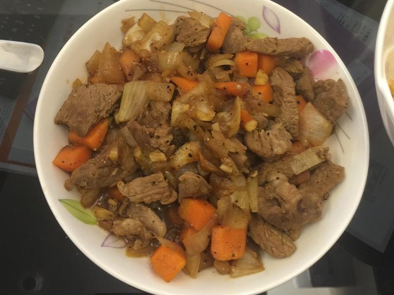 醬炒黑胡椒牛排 超下飯 快速