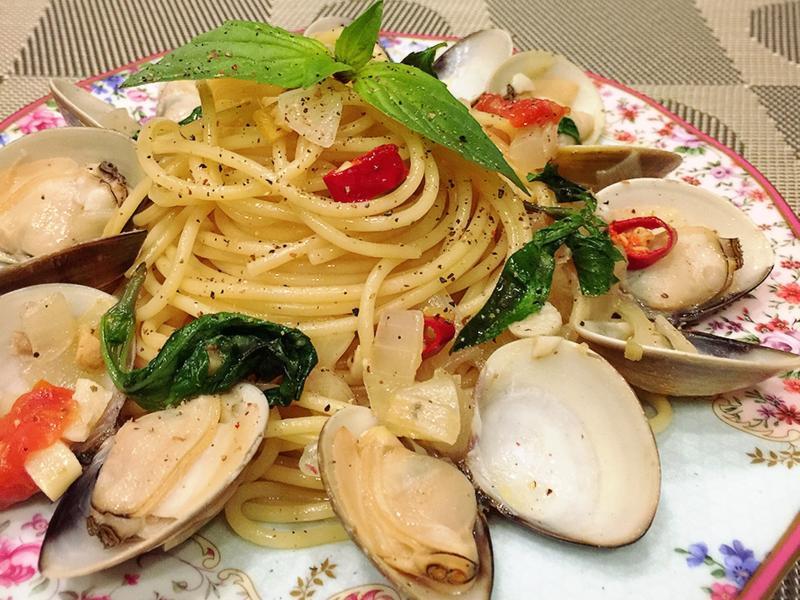 蛤蠣義大利麵