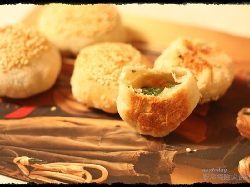 【東煮】果真砰成蟹殼黃 Green Onion Pastry
