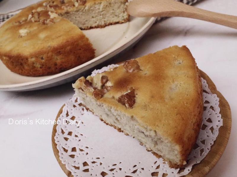 (母親節)香蕉核桃蛋糕無油低糖好健康