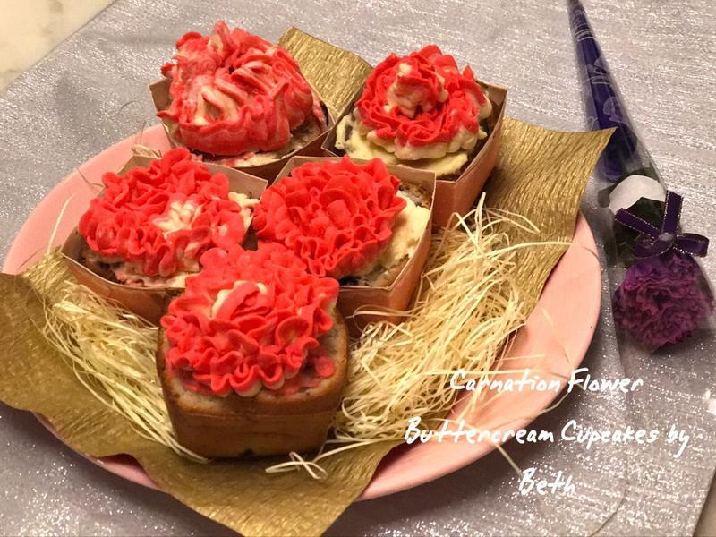 康乃馨杯子蛋糕 - 母親節