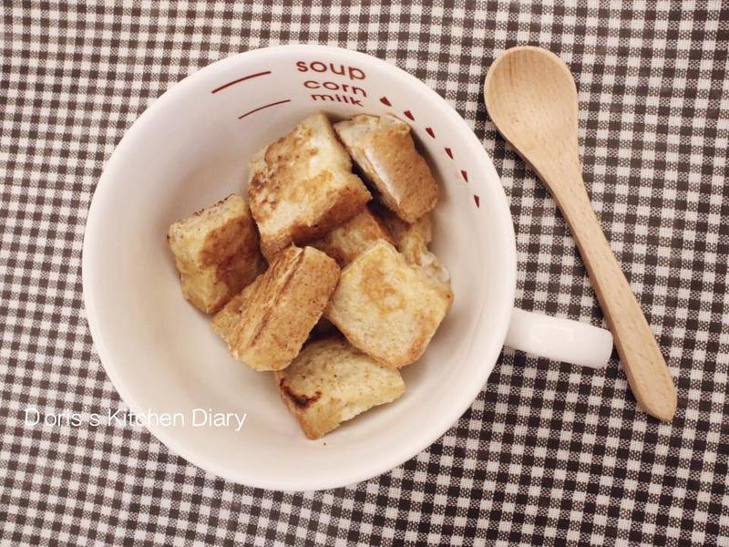 「寶寶食譜」法國吐司小磚塊