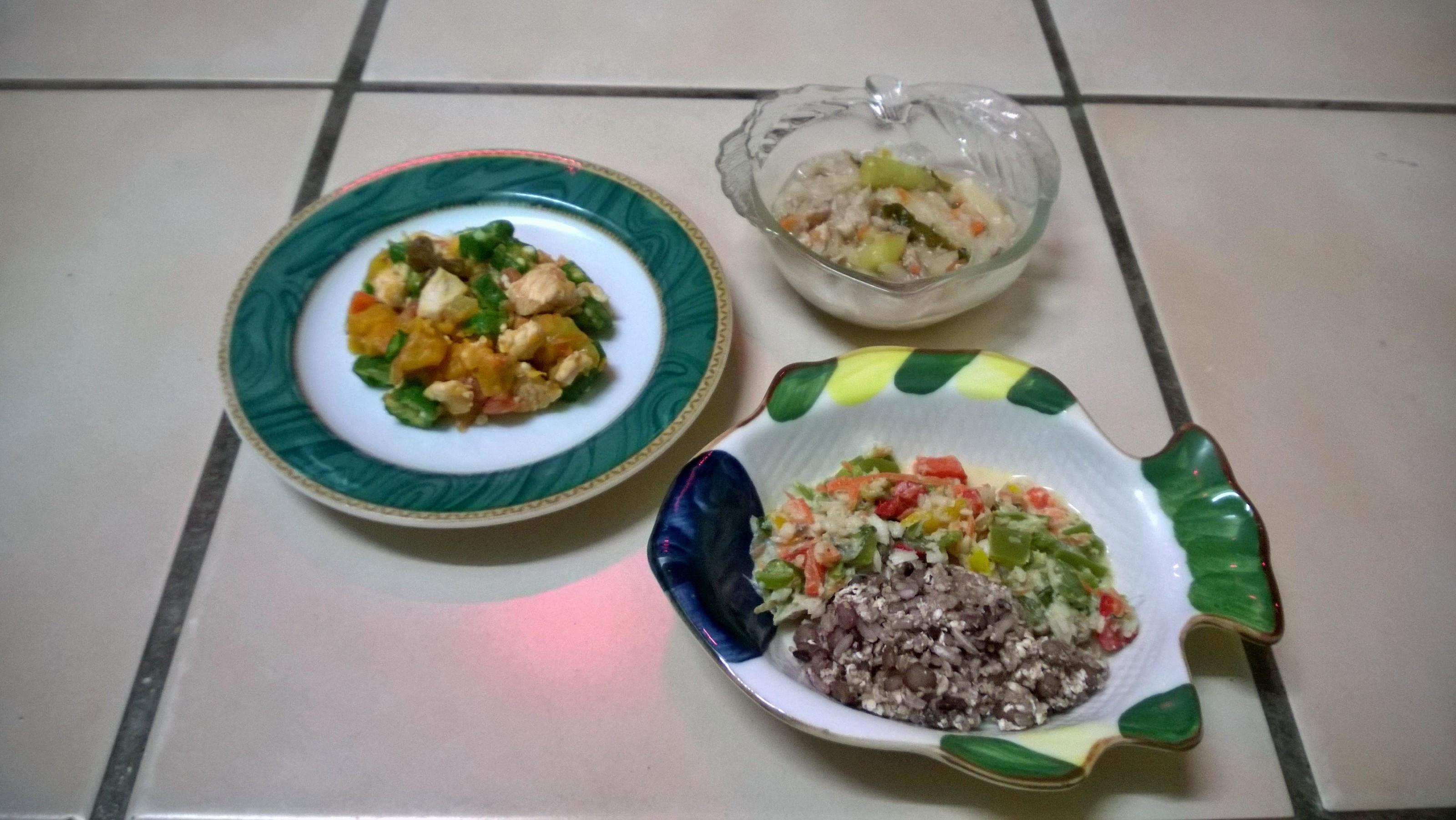 鮮食🐾秋葵沙拉 雙菜蒸肉 海鮮燴飯
