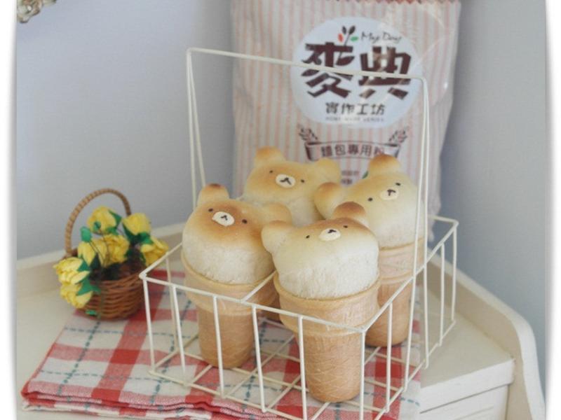 簡單揉「小熊甜筒麵包」夏日裡的療癒麵包♪