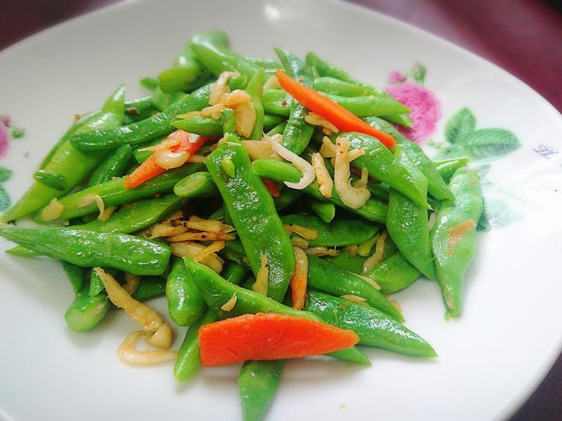 櫻花蝦炒醜豆