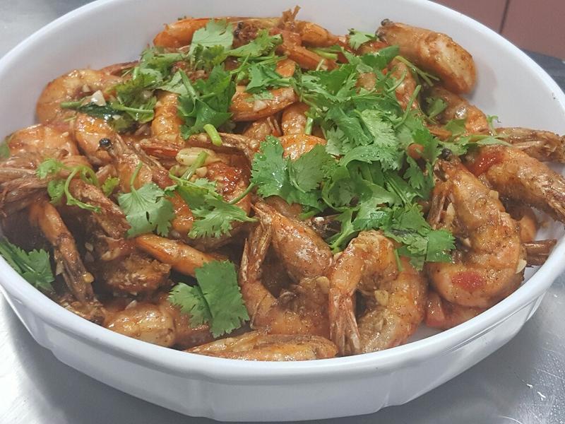 香茄蒜味鮮蝦
