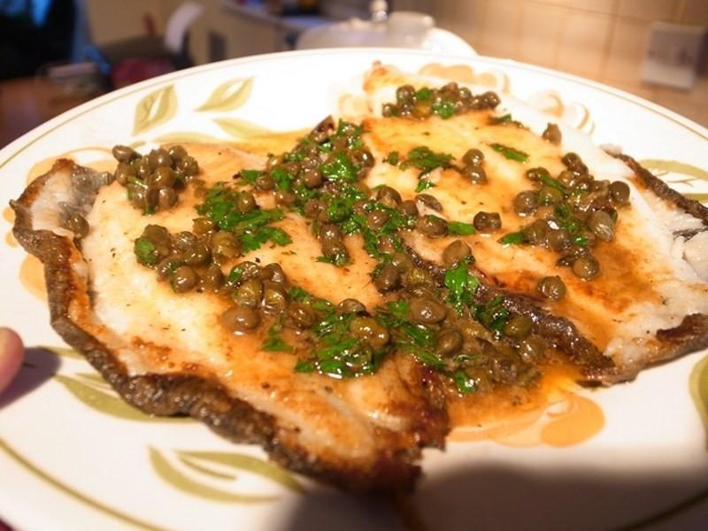 香煎蝶魚+檸檬奶油續隨子醬