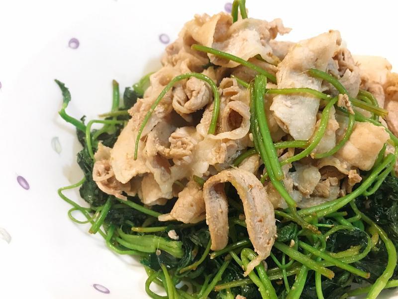 【快速】山芹菜炒肉片
