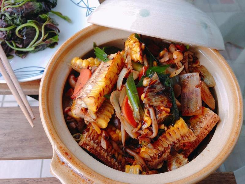 中式家常醬香燒玉米