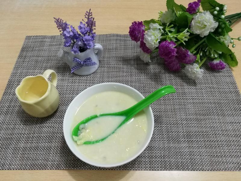 (煮食影片) 白果薏米腐竹雞蛋糖水