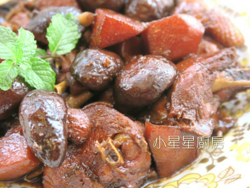 香菇竹筍燒雞