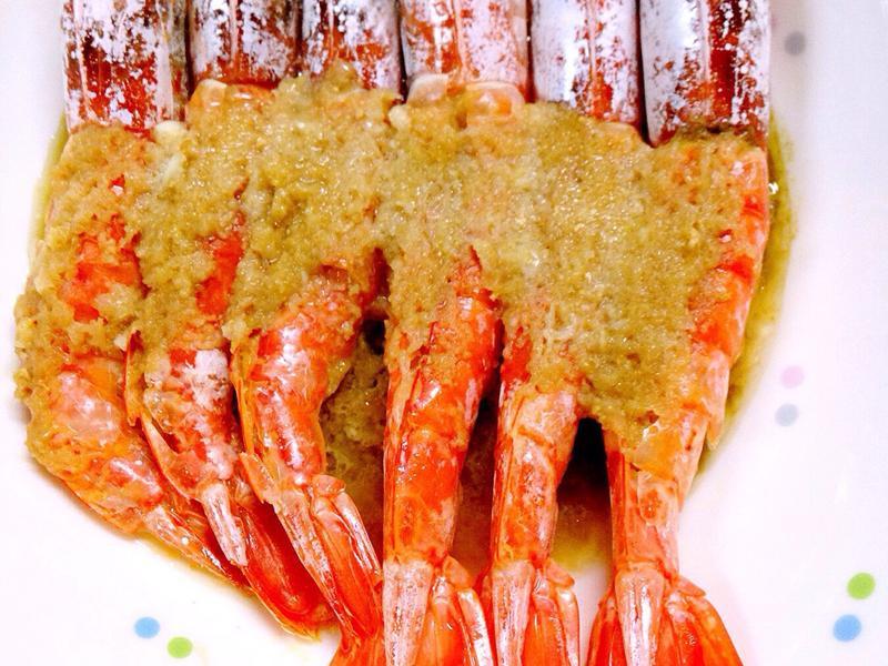 蒜蓉蒸天使紅蝦