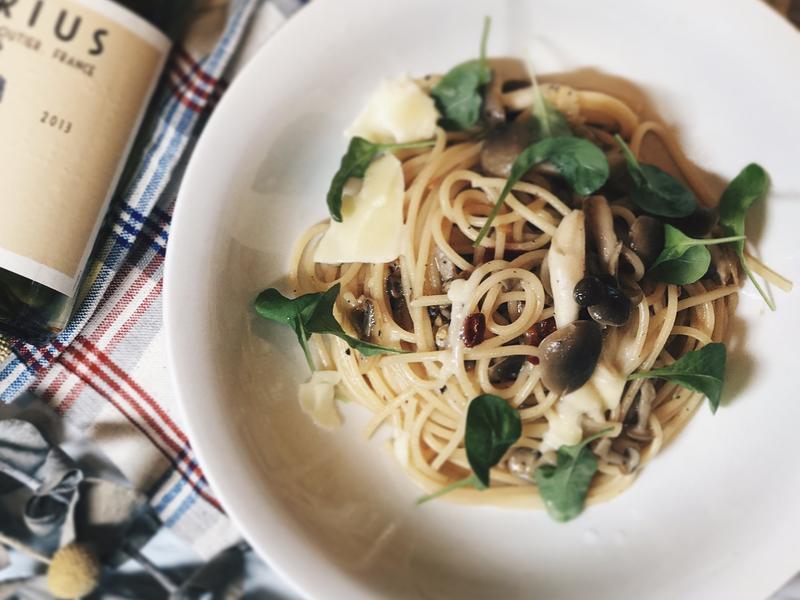 香蒜蘑菇義大利麵