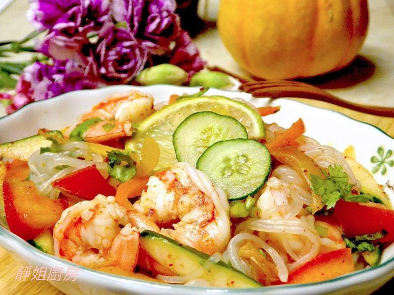 泡菜海鮮蒟蒻涼麵