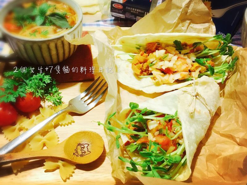 手工餅皮墨西哥肉醬捲餅【百味來私房美味】
