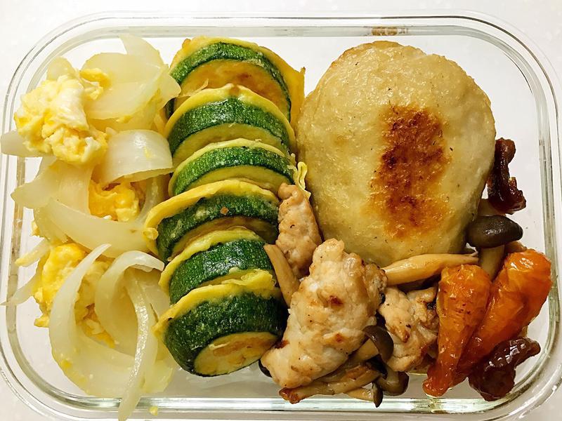 お弁当-170519-味噌肉片/櫛瓜煎餅