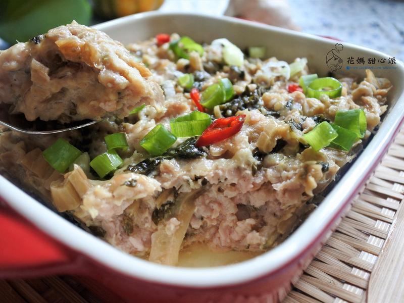 梅菜蒸肉(電鍋料理15分鐘快速上菜)