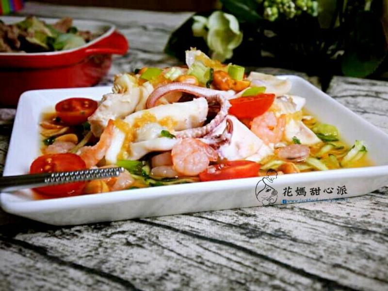 香醋花生拌海鮮(10分鐘快速料理)