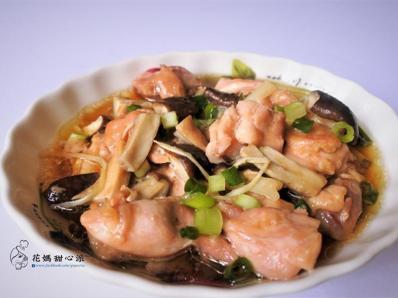 蠔油鮮菇蒸雞(無油煙料理)