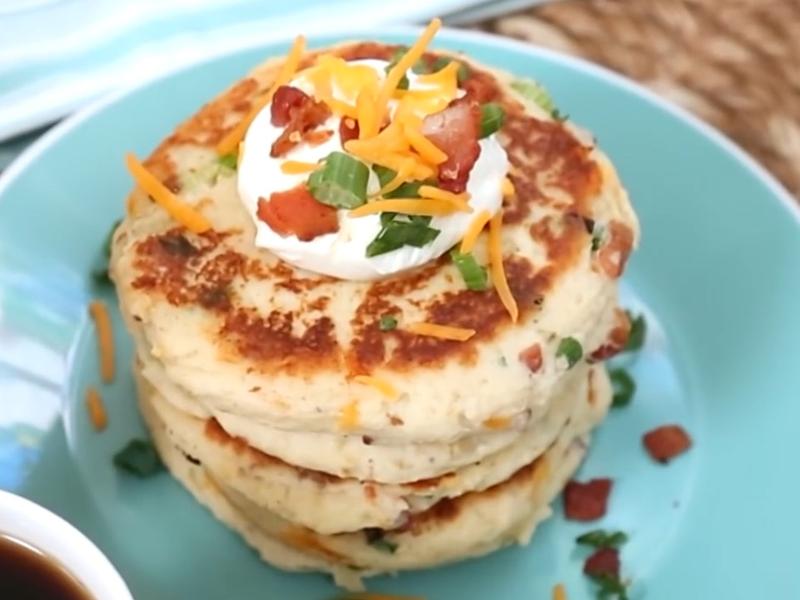 葷菜-培根香煎土豆餅
