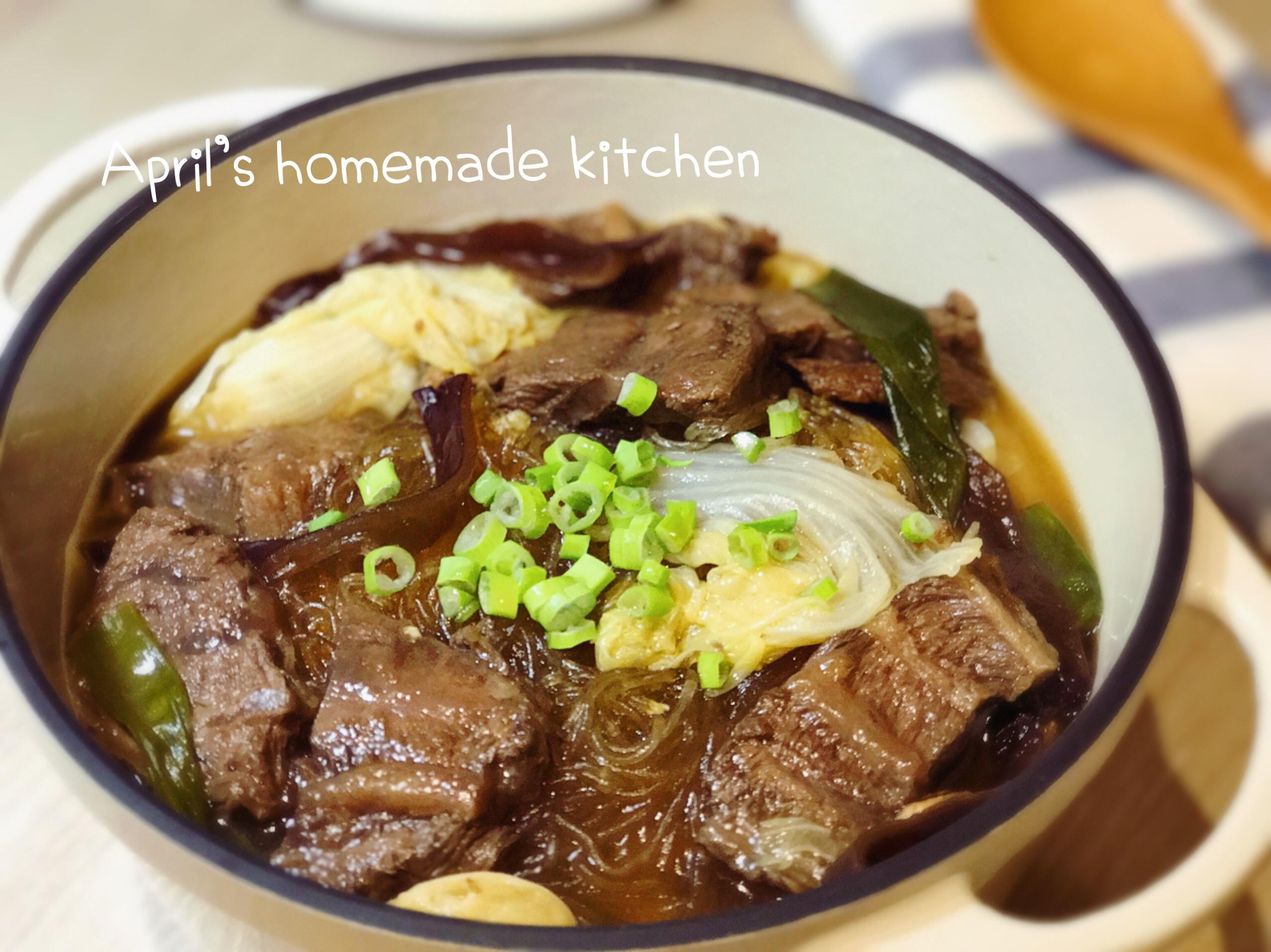 白菜牛肉粉絲煲 順便滷牛腱(電鍋)