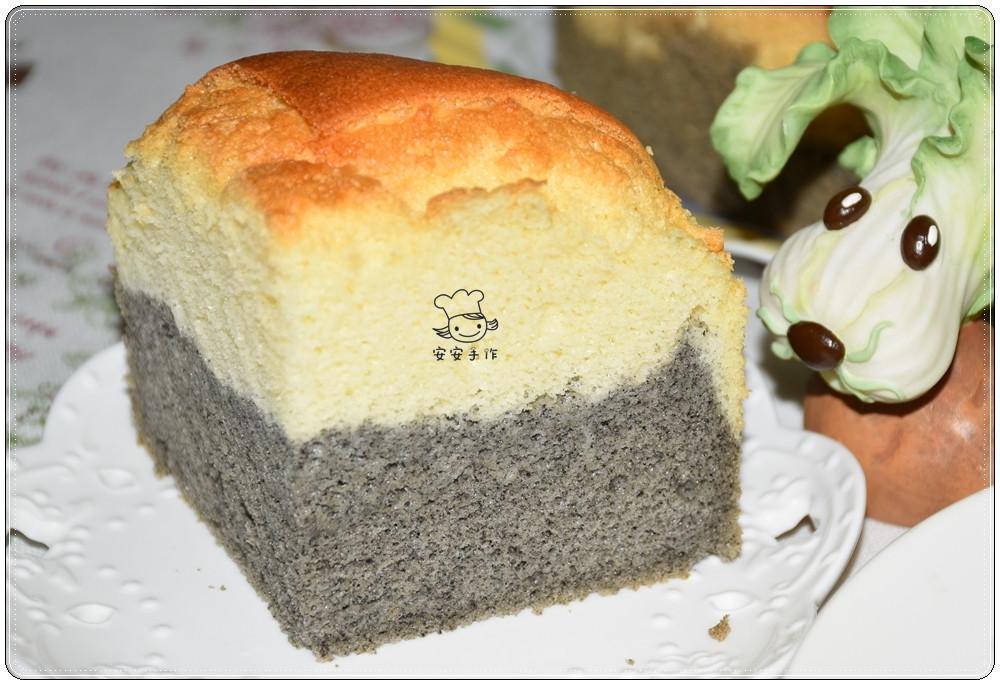 黑芝麻雙色戚風蛋糕