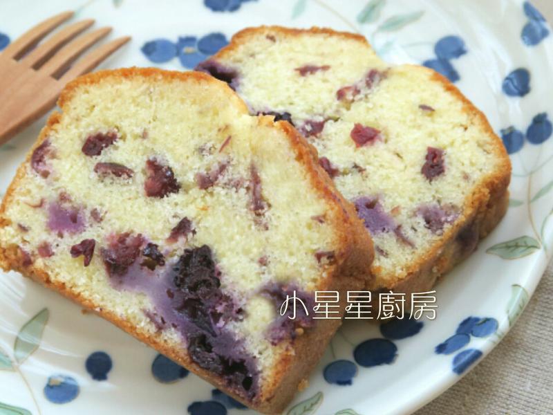 新鮮藍莓蔓越莓磅蛋糕