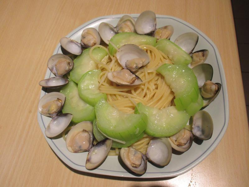 絲瓜蛤蜊義大利麵(百味來私房美味)