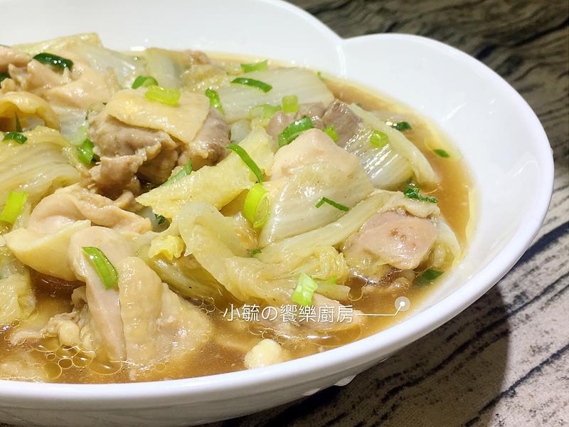 蠔油白菜蒸雞