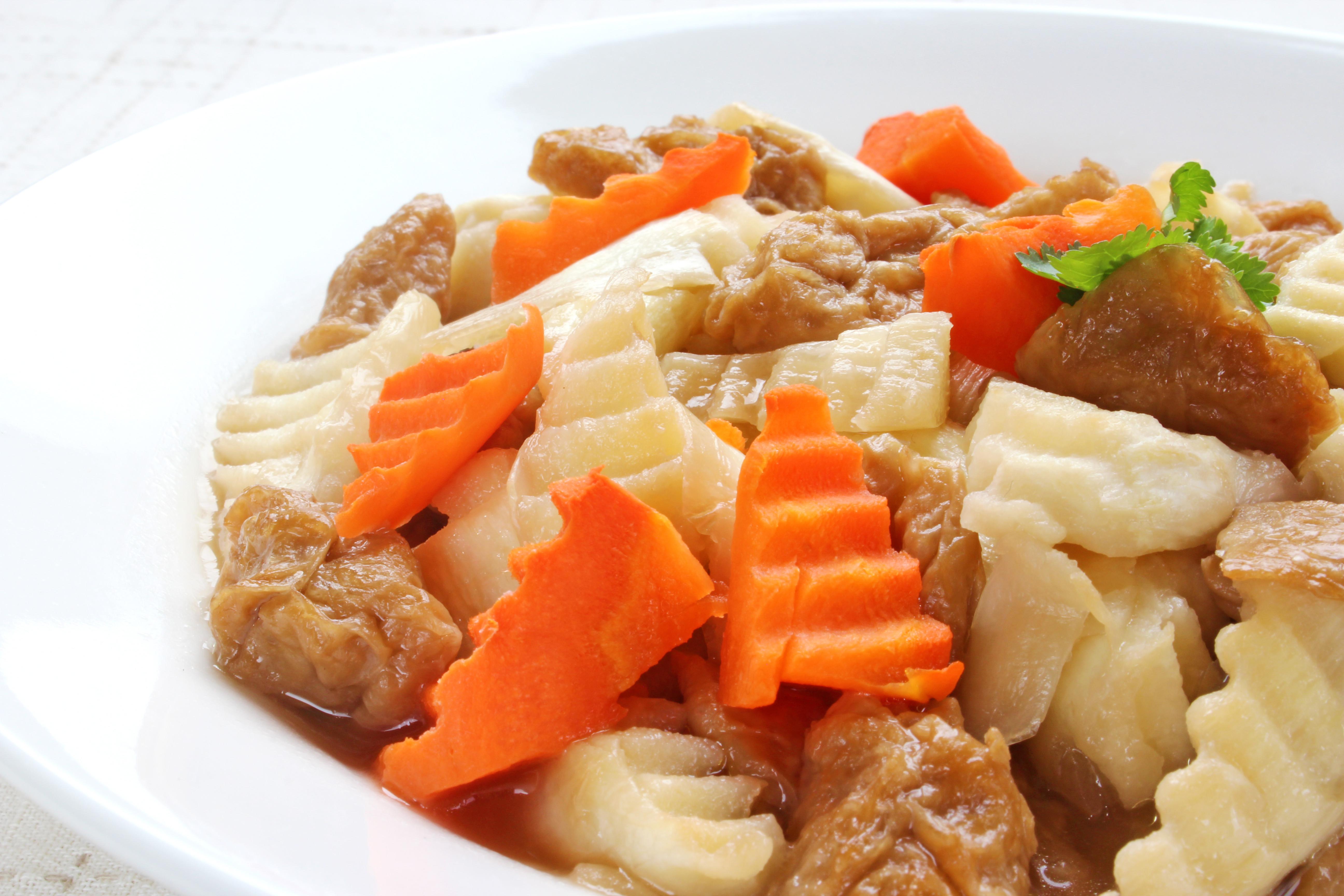麵筋筊白筍 #罐頭料理
