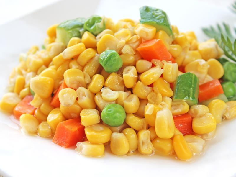 玉米炒三色 #罐頭料理
