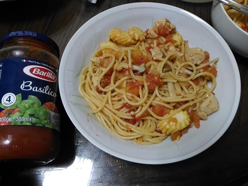 茄汁雞肉菇菇直麵【百味來私房美味】
