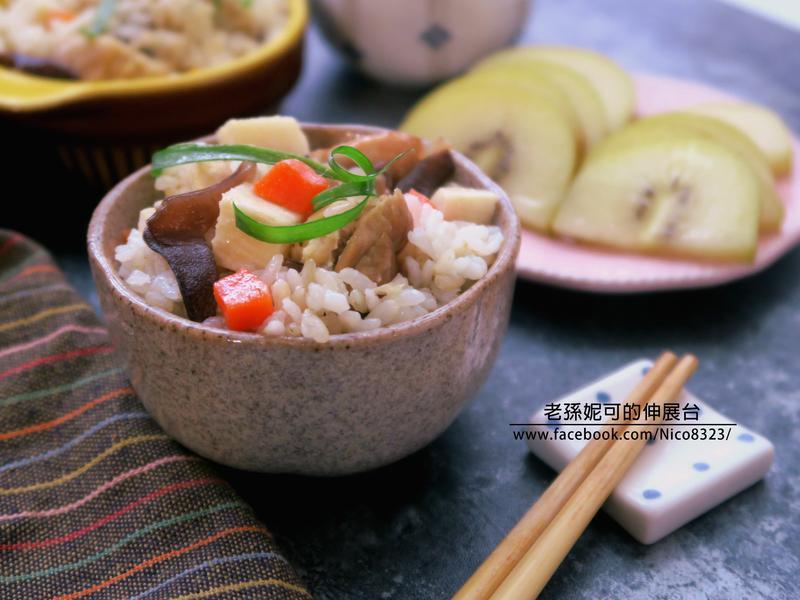 當季綠竹筍雞肉炊飯(4步驟)