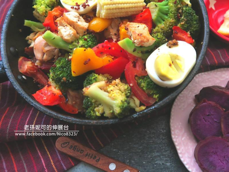豆腐溫沙拉&紫心地瓜