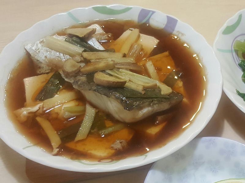 蒸鱸魚豆腐