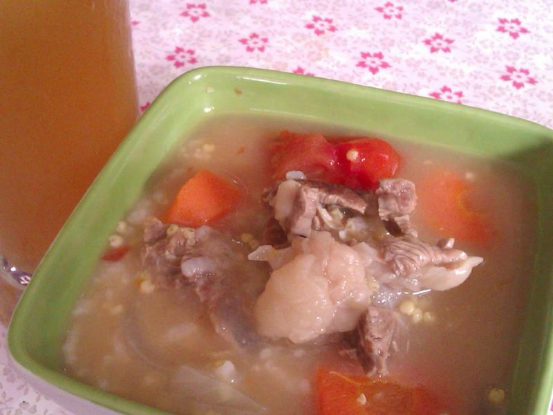 清燉牛肉小米白粥