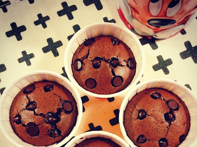 巧克力杯子蛋糕.微紮實口感(減糖版)
