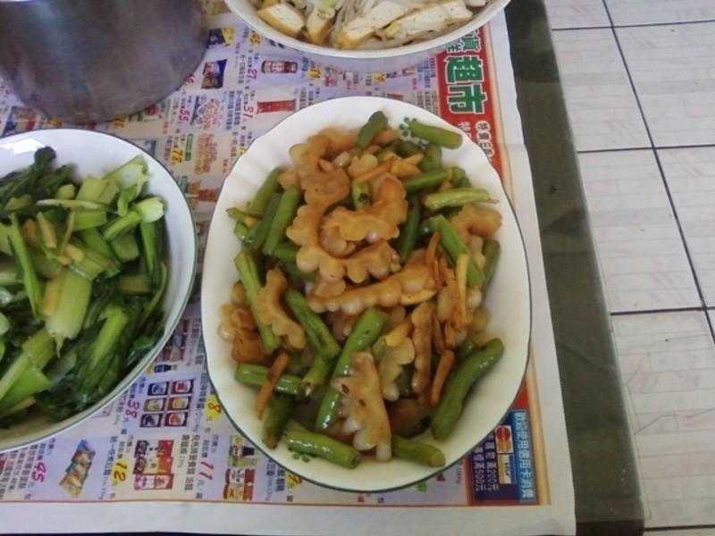 醬色苦瓜炒敏豆